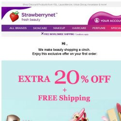 [StrawberryNet] Only 24 Hrs Left for Extra 20% Off + Free Shipping, so It's Now Or Never!