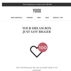 [Yoox] Double the space in your Dream Box