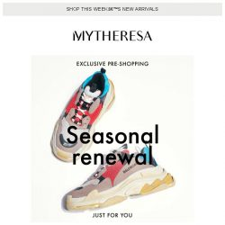 [mytheresa] Exclusive pre-shopping: Balenciaga, Saint Laurent and Ganni...