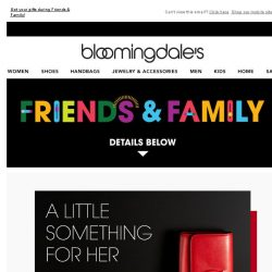 [Bloomingdales] Luxe accessories she's sure to love, plus take 25% off