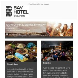 [Bay Hotel] December's the month for FUN at Bay