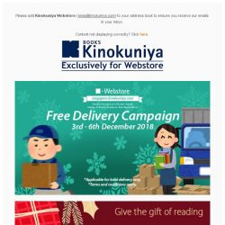 [Books Kinokuniya] 🚚Enjoy *Free Delivery for limited period, exclusively on Kinokuniya Webstore Singapore!💻Shop NOW!