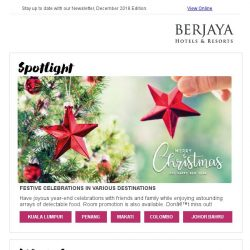 [Berjaya Hotels & Resorts EDm] Celebrate year-end festivals with Berjaya Hotels and Resorts!