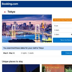 [Booking.com] Deals in Tokyo from S$ 65