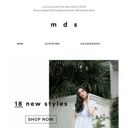 [MDS] The latest drop you will adore | 18 NEW ARRIVALS ONLINE & IN-STORES