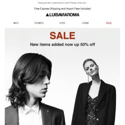 [LUISAVIAROMA] New items added: Now up to 50% off