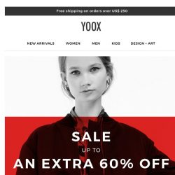 [Yoox] Sale: Up to an EXTRA 60% OFF