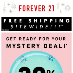 [FOREVER 21] 10, 15, or 20% off! Discount guaranteed!