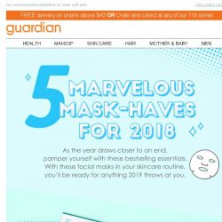 [Guardian] 🎭 #MaskTime: The Top 5 Face Masks of 2018 unveiled!
