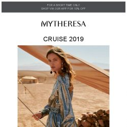[mytheresa] Cruise: dresses, knits and bags for getaway glamour + free shipping