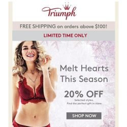 [Triumph] 20% Off On New Arrivals - Limited Time Only!