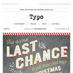 [typo] Last chance to get your hands on Personalisation!
