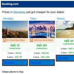 [Booking.com] Prices in Mandalay are dropping for your dates!
