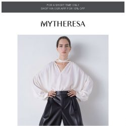 [mytheresa] New-season blouses to boast about | The pieces you loved this week + limited time free shipping