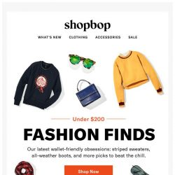 [Shopbop] Our winter picks—all under $200!