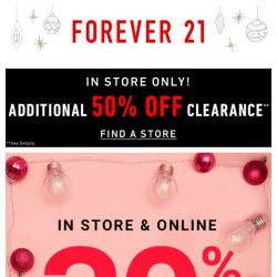 [FOREVER 21] A little 30%-off-holiday party!