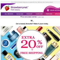 [StrawberryNet] Extra 20% Off + Free Shipping Disappears in 24 HRS! For Real