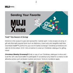[Muji] Have a Merry Christmas at MUJI!