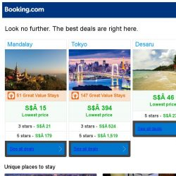 [Booking.com] Mandalay, Tokyo, or Desaru? Get great deals, wherever you want to go