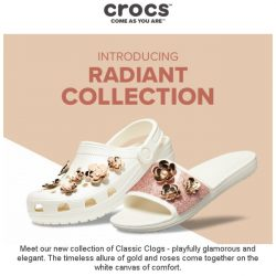 [Crocs Singapore] [New Arrivals] ⚜Gold, Roses, Sparkles⚜ the Best Combination for YOU!