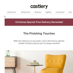 [Castlery] Small Items on Sale + No Delivery Fee!