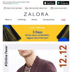 [Zalora] 12.12 Early Surprise: 20% Off Sitewide!