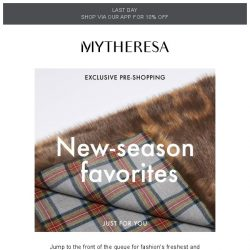 [mytheresa] Exclusive pre-shopping: Fendi, Valentino and Versace + limited time free shipping