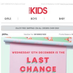 [Cotton On] Don't miss out on your last chance for Personalised Gifts!🎁