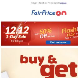 [Fairprice] December offers you can't miss! 🎆