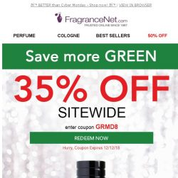 [FragranceNet] 35%* OFF - More gifts, more SAVINGS!