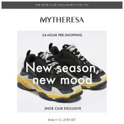 [mytheresa] 👠Shoe Club exclusive 24-hour pre-shopping: SS19's standout styles