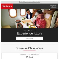 [Emirates] Experience Business Class for less from SGD 2879
