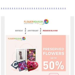 [Floweradvisor] Make sure to check out this UP TO 50% OFF before it's gone!