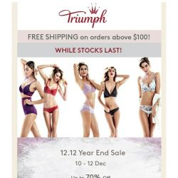 [Triumph] Last 6 Hours To Shop on 12.12 Year End Sale!