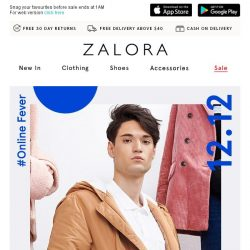 [Zalora] The #OnlineFever is real! 30% Off Sitewide Now!