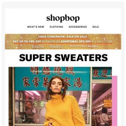 [Shopbop] Up to 75% off + Sweaters, sweaters, and more sweaters
