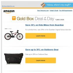 [Amazon] Save 30% on Kids Bikes from Guardian
