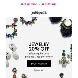 [Neiman Marcus] 20% off Jewelry! For a limited time