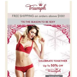[Triumph] Lets Celebrate Together Up to 50% Off!