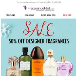 [FragranceNet] 1/2 OFF for the holidays!