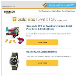 [Amazon] Save up to 45% on favorites toys from Battat,...