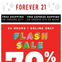[FOREVER 21] TGIF: TAKE 70% OFF!