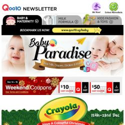 [Qoo10] Have A Colourful Christmas with Crayola! [ 30% OFF Storewide ] Participate our Lucky Draw to WIN Dyson Hair Dryper/ iPad!