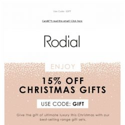 [RODIAL] 15% Off Christmas Gifts | Merry Giftmas 🎄