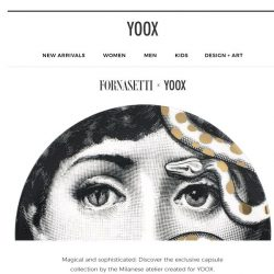 [Yoox] FORNASETTI: discover the surreal capsule collection created for YOOX