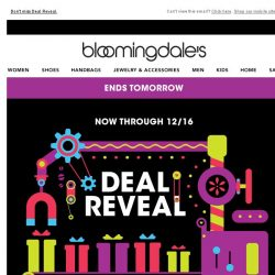 [Bloomingdales] Ends tomorrow: Take an extra 20%, 30% or 40% off