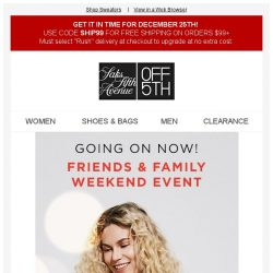 [Saks OFF 5th] Extra 50% off sweaters for the Friends & Family Weekend Event!