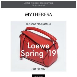 [mytheresa] Exclusive pre-shopping: Loewe Spring '19 + limited time free shipping