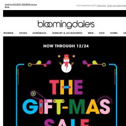 [Bloomingdales] Take 15% off during the Gift-mas Sale