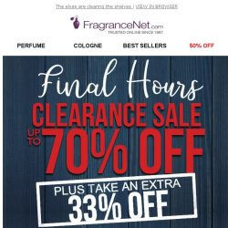 [FragranceNet] Note to elf: 33% off clearance ends TONIGHT